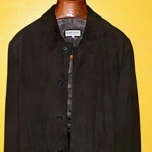 Giorgio Armani suede Leather jacket brown size 40